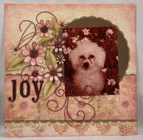 Heartfelt Creations   Daisy Patch Poodle Layout