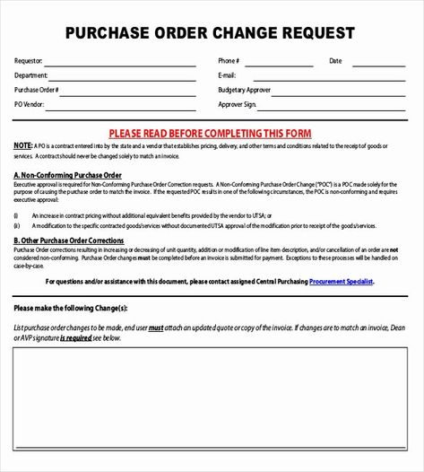 Sample Change Request Form Unique 16 Change Order Templates Word