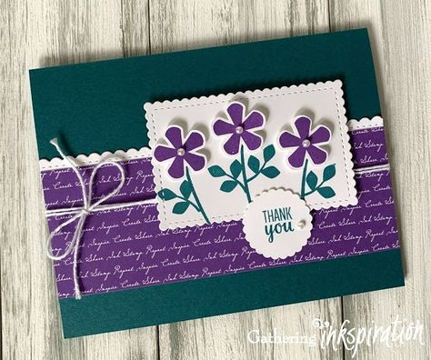 Photo of Stampin' Up! Thoughtful Blooms Thank You Card