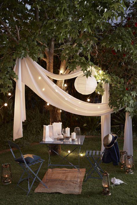 Un coin cosy en extérieur pour discuter