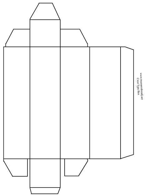 Tall Skinny Box  X  Template  Printable Patterns