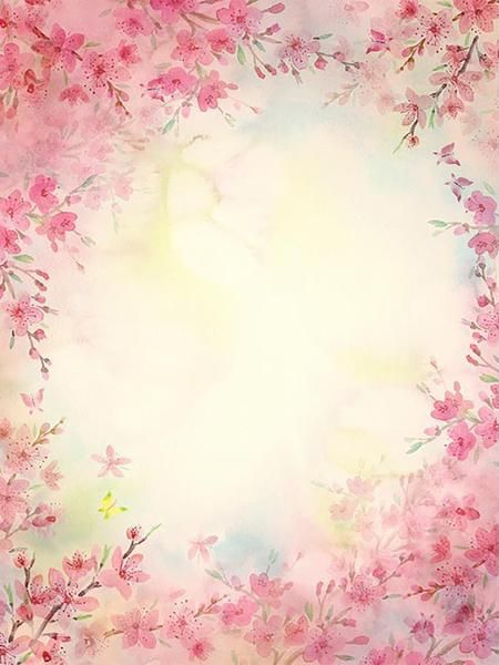 Pink Beautiful Floral Hazy Newborn Photography Backdrops S