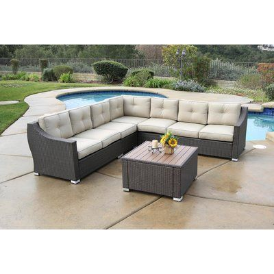 Outdoor Furniture Sets Patio Sectional, Burruss Patio Sectional With Cushions Canada