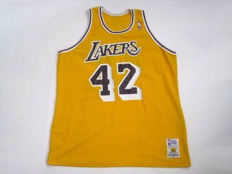 5ffcccb3d ... Swingman Vintage James Worthy 42 Los Angeles Lakers NBA jersey made by  Sand Knit Vintage Sportswear Pinterest ...