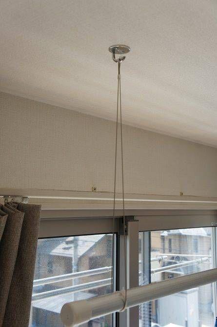 子どもが花粉症に 室内物干しをdiy 室内物干し 家 インテリア 収納