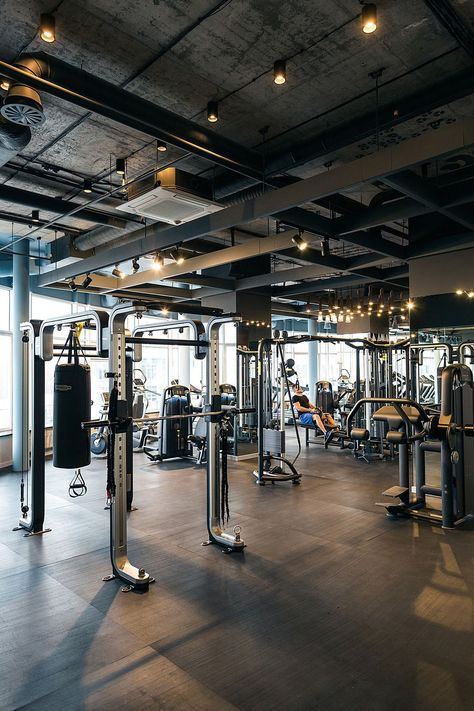 54 Ideas Home Gym Industrial Workout Rooms Gym Interior Fitness