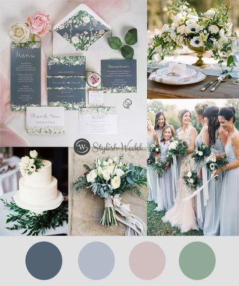 wedding invitations blue dusty blue and blush floral wedding invitations with belly band