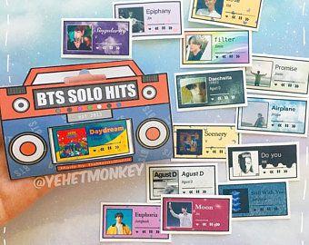BTS BIG HITS Ver 2 Songs Kpop Journal Stickers