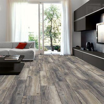 Kronotex 12mm Estate Grey Oak Embossed Laminate Flooring House Furniture Design Wood Floors Wide Plank Home