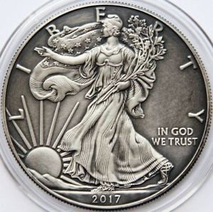 2017 American Silver Eagle 1 Oz Antique Finish Only Few Available Bullion Coins Silver Bullion Silver Bullion Coins