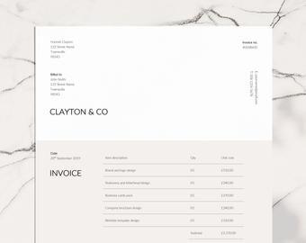 Invoice Template Business Invoice Receipt Template Etsy In 2020 Invoice Template Invoice Design Photography Invoice Template