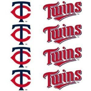 Minnesota Twins 8-Pack Waterless Temporary Tattoos by Football Fanatics. $9.99. Hypoallergenic. Team logos and colors. Easy to apply and remove. Water resistant. Safe and gentle on skin. Show your team spirit on game day with this eight-pack of Minnesota Twins Peel and Stick Tattoos. Easy to apply, just peel tattoo from backing and apply to a clean surface. To remove, simply peel away.