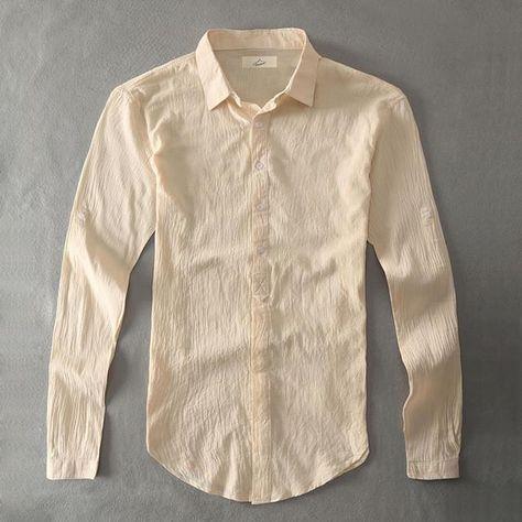 e9a48412f0ca Casual Hawaiian Shirts Men Cotton Linen Designer Brand Slim Fit Man Shirts  Long Sleeve White Shirts For Men Clothes Spring