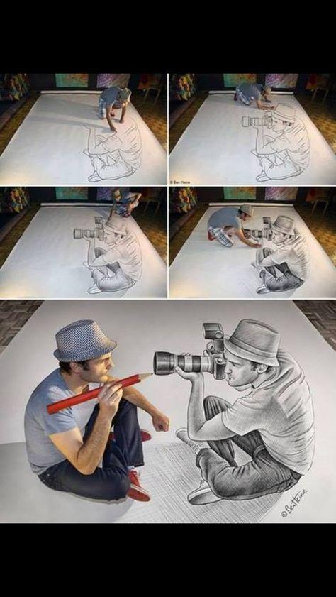 Illusion D Optique Dessin Art Dessin Peinture Dessin
