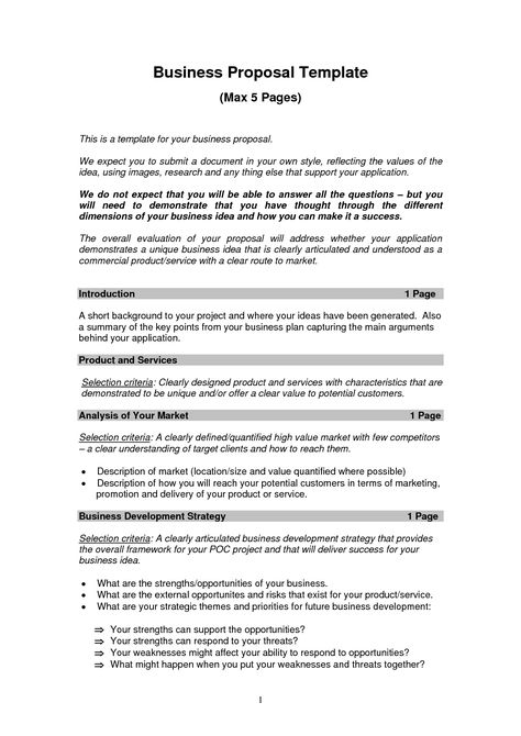 Business Letter Proposal Business Proposal Letter Proposal - freelance proposal template