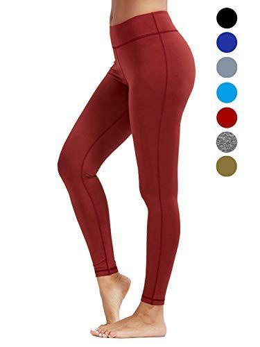 dh Garment Legging Sport Femme Pantalon Yoga avec Poche Taille Haute  Amincissant Coton - Rouge Taille 38 229df1b6403