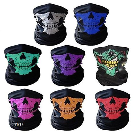 NEW Skeleton Cosplay Camouflage CS AIRSOFT Ghost Skull dust-proof Warm Headgear