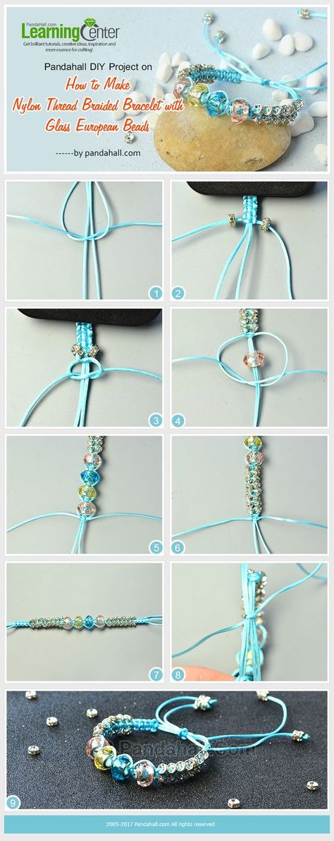 How To Make Nylon Thread Braided Friendship Bracelet