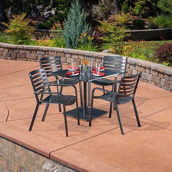 atlas 5 piece bistro dining set patio