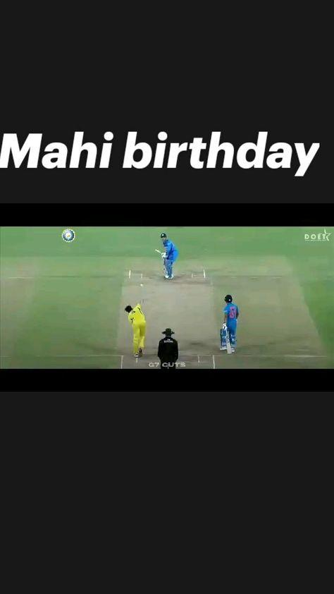 Mahi birthday