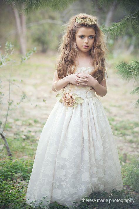 Communion Silk Dress-Flower Girl Ruby