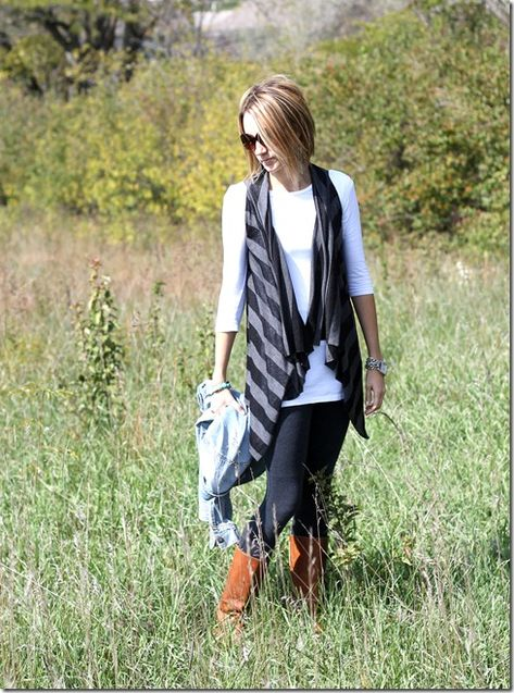 98fc21564357a No sew knit vest tutorial (1 square yard of fabric and scissors is ...