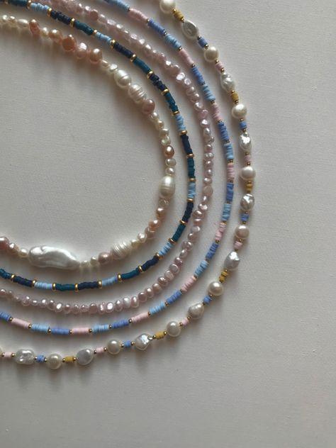 Cute Jewelry, Pearl Jewelry, Gemstone Jewelry, Jewelery, Jewelry Accessories, Jewelry Design, Handmade Accessories, Pearl Necklaces, Diy Necklace