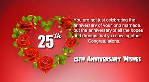 Image Result For 25th Wedding Anniversary Wishes In Hindi Wedding Anniversary Wishes 25th Wedding Anniversary Wishes Happy 25th Anniversary