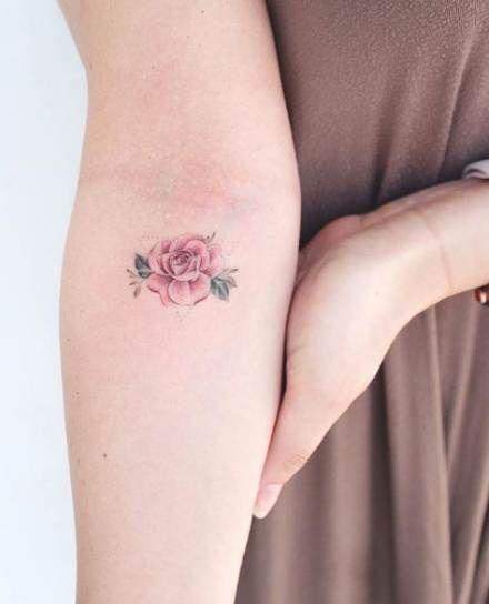 17 Trendy Tattoo Rose Small Colour Tattoo Small Flower Tattoos For Women Colour Tattoo For Women Tattoos