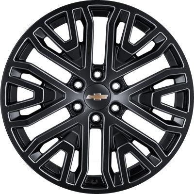 Aly5906hh Silverado Suburban Tahoe Sierra Yukon Wheel Black Machined 84040799 Chevy Accessories Silverado 1500 Silverado