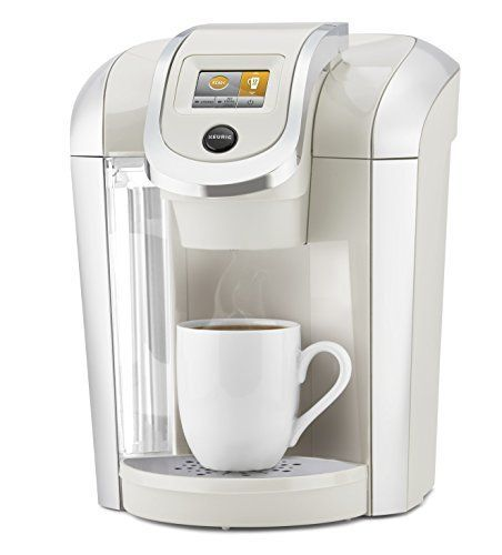 Keurig K475 Single Serve K Cup Pod Coffee Maker With 12oz Brew Size Strength Control And Temperature Control Sandy Pearl Sale Coffee Makers Shop Buymorecof Pod Coffee Makers Single Serve Coffee K cup and coffee maker combo