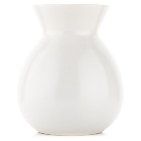 Pinnacle 8 White Ceramic Vase Walmart Com In 2020 White Ceramic Vases Ceramic Vase White Ceramics