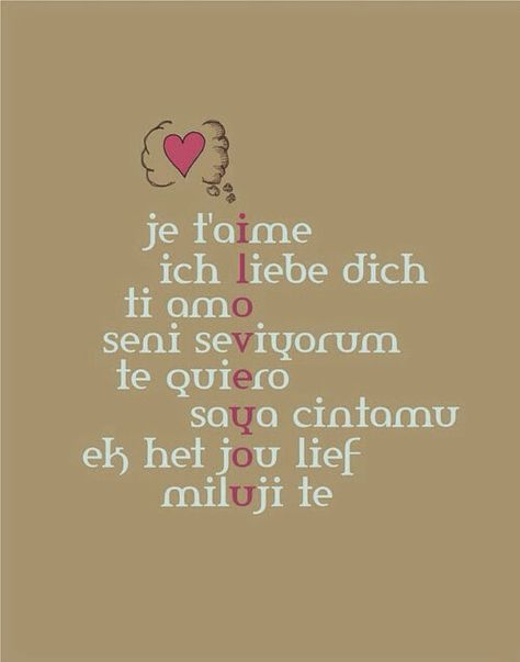# Quote # I love you