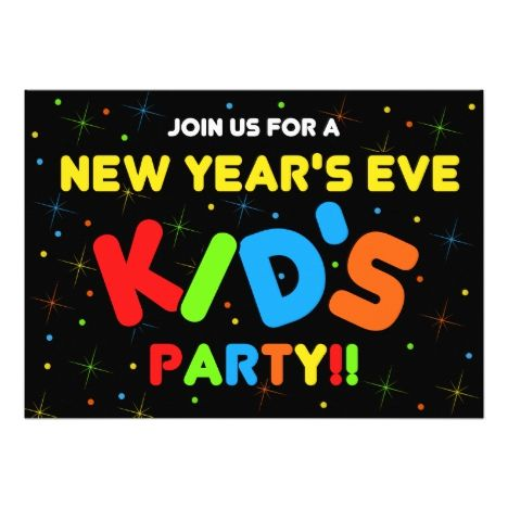 New Years Eve Kids Party Invitations Newyears Party Invites Invitations New Years Eve Invitations Party Invitations Kids Kids New Years Eve