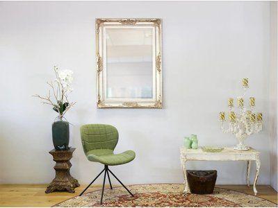 Spiegel Mit Silbernem Barock Rahmen Kunstspiegel De Spiegel Barock Rahmen