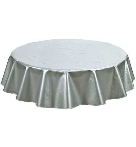 Freckled Sage Oilcloth Products Round Oilcloth Tablecloth In Solid Silver You Pick The Size Oilcloth Tablecloth Table Cloth Oil Cloth