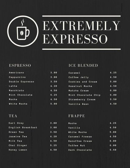 Mint Coffee Shop Menu Templates By Canva Desain Menu Resep Minuman Kopi Kedai Kopi