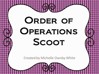 Order of operations-ideas and video on this blog