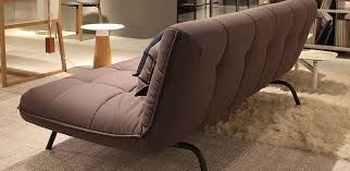 Berlin Loft Sofabed Shown In Taupe With Rear View Sofa Bed
