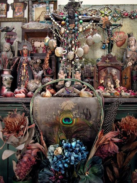 Laurie Beth Zuckerman's altar.  lauriezuckerman.blogspot.com