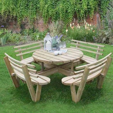 Rustic Garden Furniture Google Search Wooden Picnic Tables Garden Seating Wooden Garden Furniture