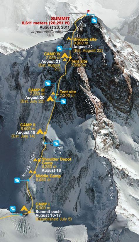 K2 Climb Map Con Imagenes Turismo Aventura