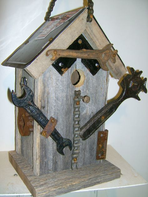 Feeder See Rock City Outdoor Lawn Bird House Rustic Vintage Easy To Assemble