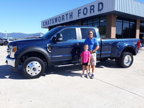 congratulations to derrick callahan and his daughter jordan of dalton ga on your new 2019 f 450 diesel sold by randy boswell we ford news car ford used cars pinterest