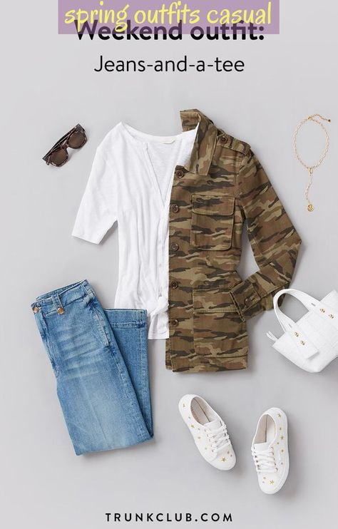 Weekend Outfit Staple Jeans-And-A-Tee Whatever You Re Doing This Weekend #springoutfitscasual ; wochenend-outfit staple jeans-and-a-tee was auch immer sie an diesem wochenende tun ; tenue de week-end staple jeans-and-a-tee quoi que vous fassiez ce week-end