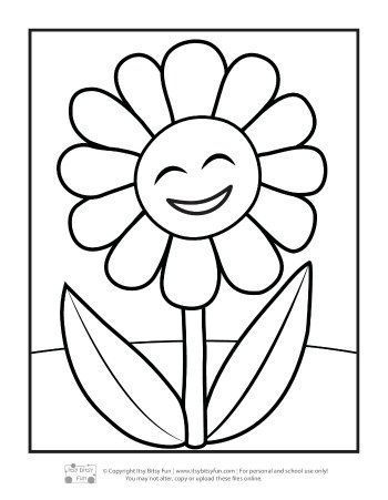 Flower Coloring Pages For Kids Itsybitsyfun Com Flower Coloring Pages Spring Coloring Pages Printables Free Kids Coloring