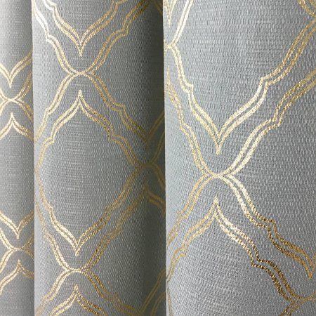 54fa0cfd4032ed4afd8e0d6f5a300a11 - Better Homes & Gardens Metallic Foil Trellis Curtain Panel