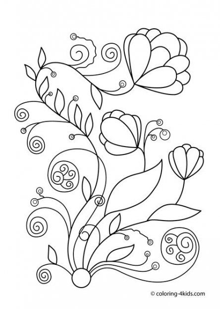 22 Best Ideas For Embroidery Patterns Free Printables For Kids Flower Coloring Pages Embroidery Flowers Pattern Spring Coloring Sheets