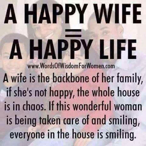 Happy Wife! Happy Life! | Marriage/Relationships | Happy ...