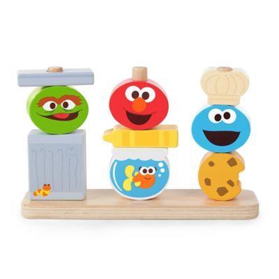 Bright Starts Mix Match Sesame Street Friends Wooden Stacking